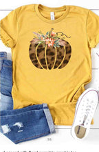 Load image into Gallery viewer, Fall pumpkin T-shirt mustard