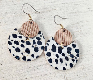 Eclipse leather earrings
