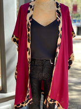 Load image into Gallery viewer, Kimono leopard burgundy