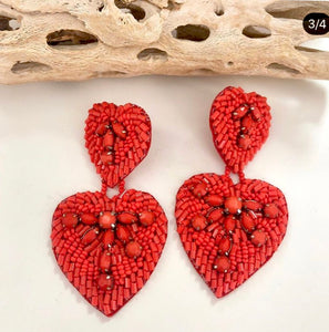 Treasure jewels double red hearts