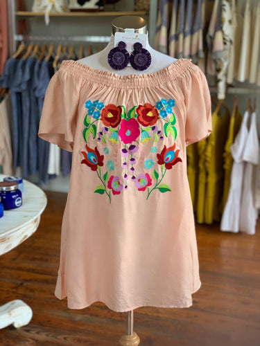 Embroidery offshoulder top