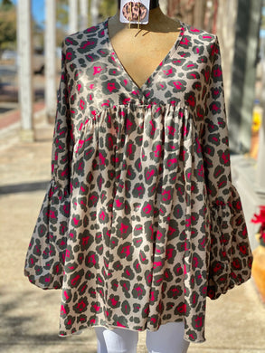 Peplum animal print