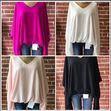 Load image into Gallery viewer, Dolman sleeve tops multi colors