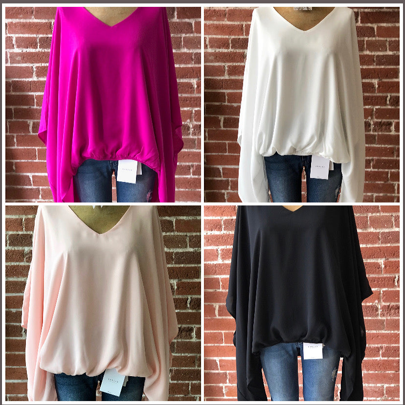 Dolman sleeve tops multi colors
