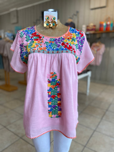 Addis embroidery top