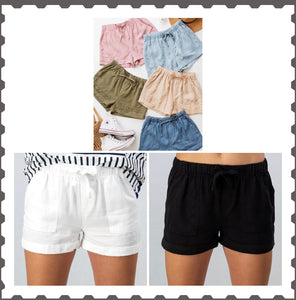 Tencel shorts multi colors