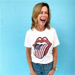 Flag lips T-shirt