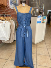 Load image into Gallery viewer, Denim romper pant suit