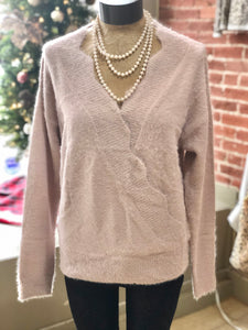 Surplice sweater