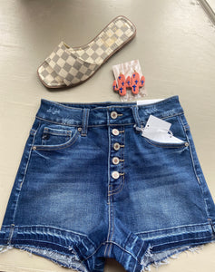 Dark denim shorts