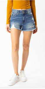 Denim short mid waist