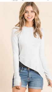 Double layer sweater top