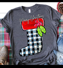 Load image into Gallery viewer, Merry Christmas stocking tee