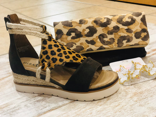 Animal print wedge