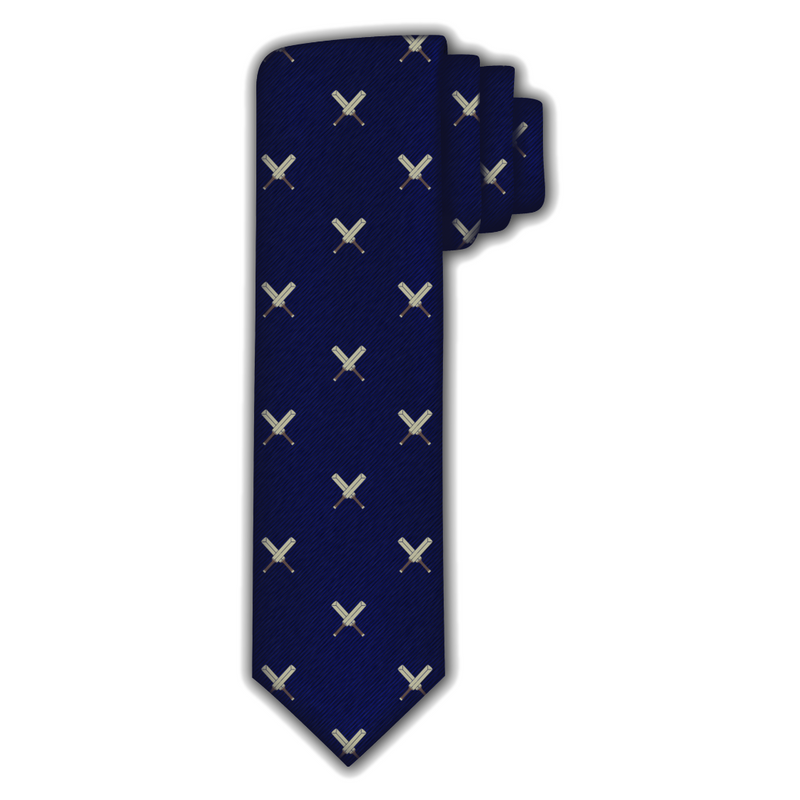 Cricket Crossed Bats Tie
