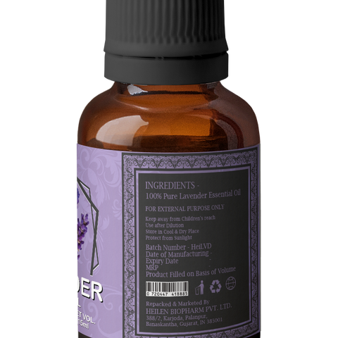 Lavender Essential Oil Steam Distilled Natural, Pure And Organic (Lavandula Angustifolia)