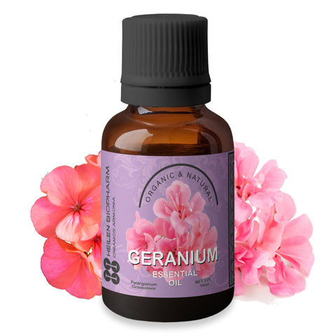 Geranium Essential Oil (Pelargonium Graveolens) Wrinkle Skin health & Body Smell