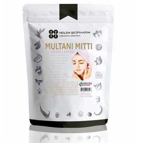 Fuller's Earth (Multani Mitti) for Face, Skin & Hair Packs - 100% Natural