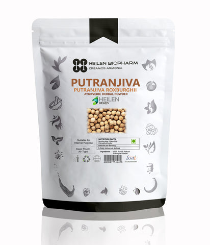 Putranjiva Herbal Powder (Putranjiva Roxburghii) Putrajivah / Putijia / Irukolli