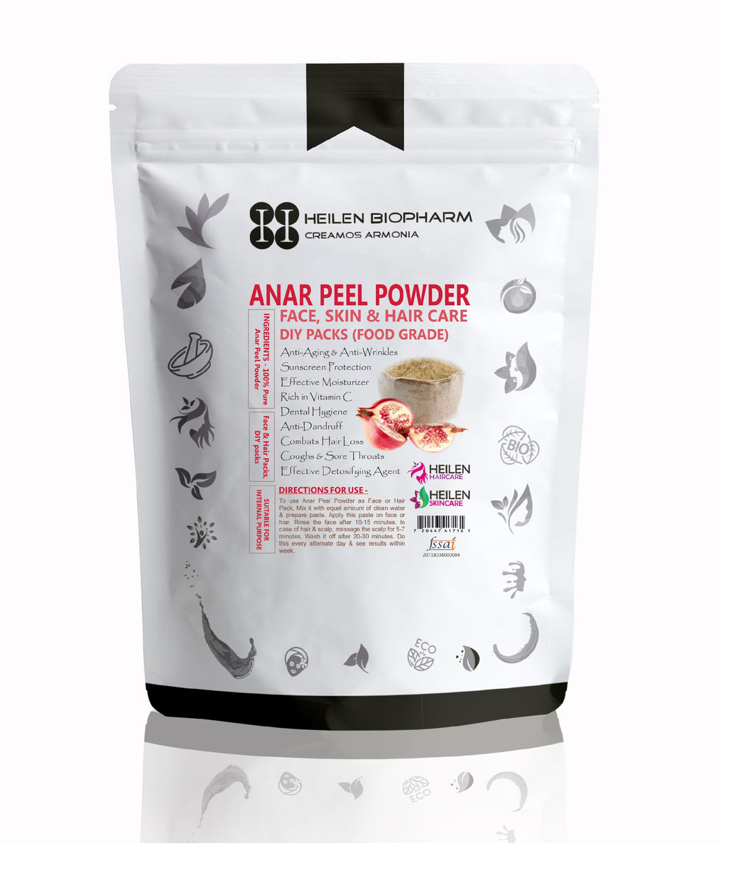 Anar/Pomegranate Peel Powder - Punica Granatum