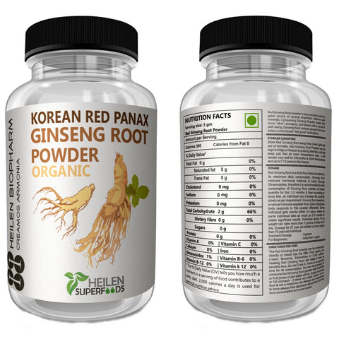 Korean Red Panax Ginseng Root Powder & Capsules
