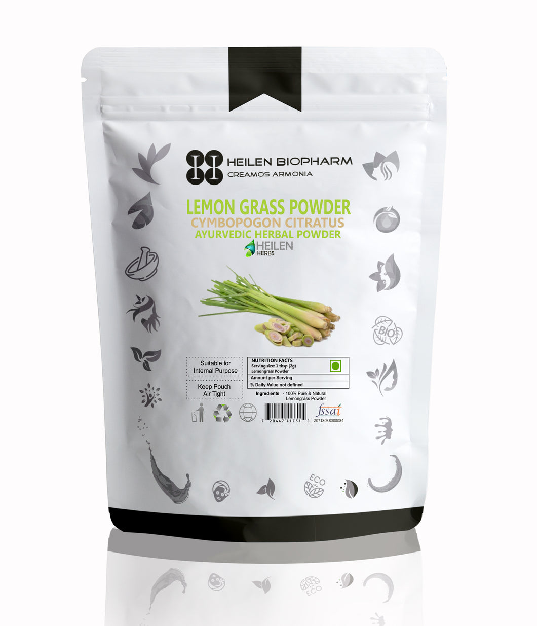 Lemon Grass Powder Face, Skin And Hair Packs - High In Nutrients, Minerals And Vitamines, Superfood!