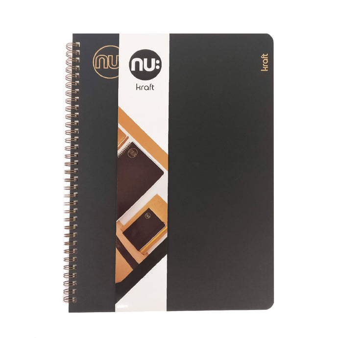 A4 Kraft Wiro Notebook