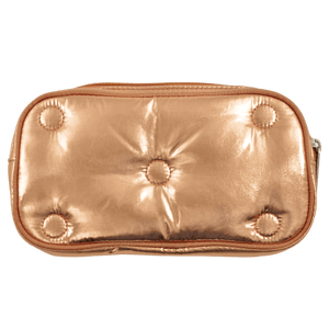 METALLIC TUFTED SMALL COSMETIC BAG