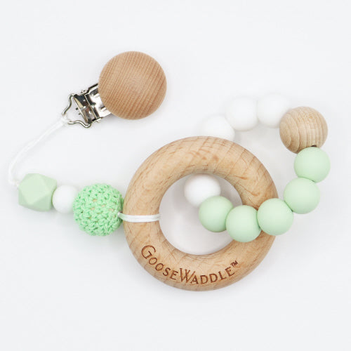WOODEN & SILICONE TEETHER