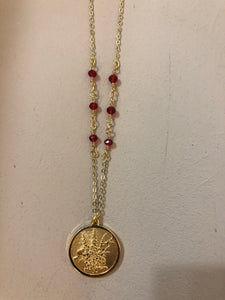 Birth month and Birth flower necklace