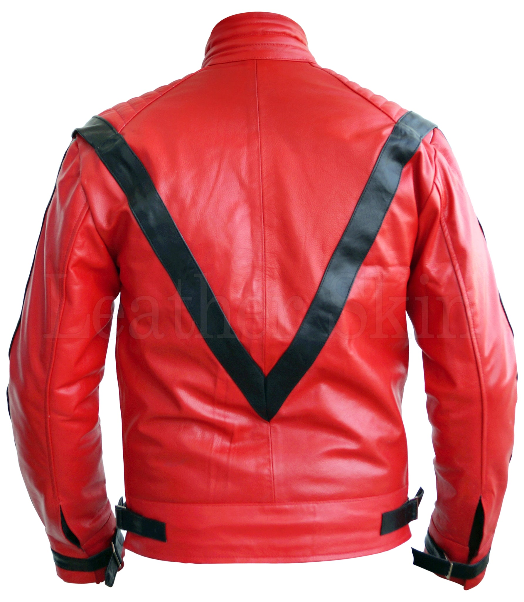 Michael Jackson Replica Red Leather Jacket