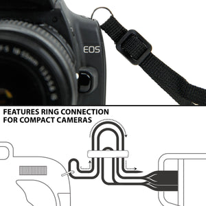 Camera Strap Chest Harness with Galaxy Neoprene and Accessory Pockets by USA GEAR - Works with Canon, Nikon, Fujifilm, Sony, Pan