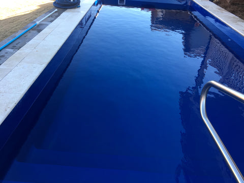 Cleaned fiberglass pool