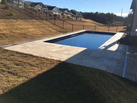 Finished fiberglass pool installation