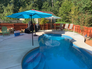 Malibu Fiberglass Pool with umbrella