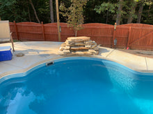 Load image into Gallery viewer, Malibu Fiberglass Pool with water feature
