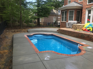 Naples Fiberglass Pool with tile
