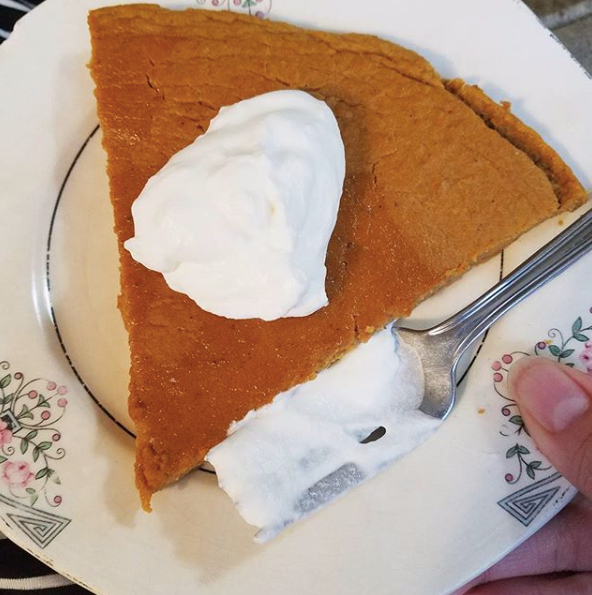 Crustless Pumpkin Pie - low carb, keto, sugar free, gluten free