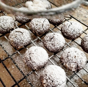 Chocolate Fudge Snowball Cookies - keto, low carb, sugar-free, gluten free