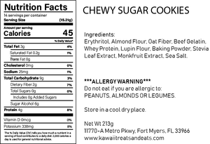 Chewy Sugar Cookie Mix - low carb, keto, gluten free, sugar free