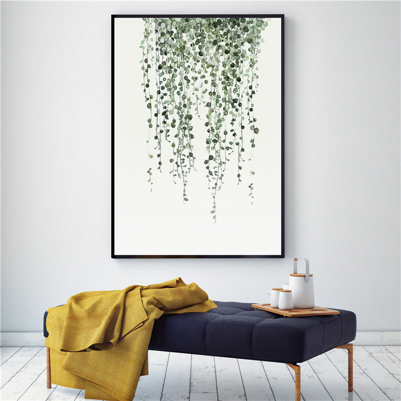 Canvas-Wall-Art-Home-Decor-Painting-Watercolor-Plant-Leaves-Poster-Print-Land
