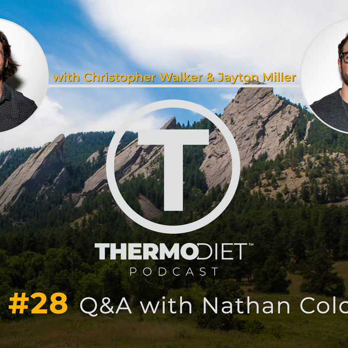Thermo Diet Podcast Quarantine Edition Episode 28 - Interview with Nathan Colonna