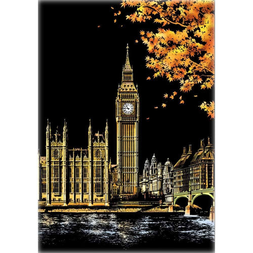 Scratch Painting - Big Ben