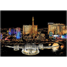 Lade das Bild in den Galerie-Viewer, Scratch Painting - Buntes Las Vegas