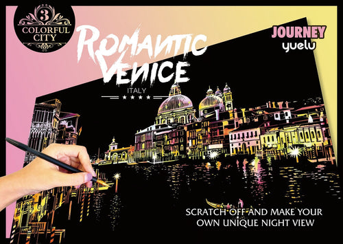 Scratch Painting - Romantic Venice - Colorful City