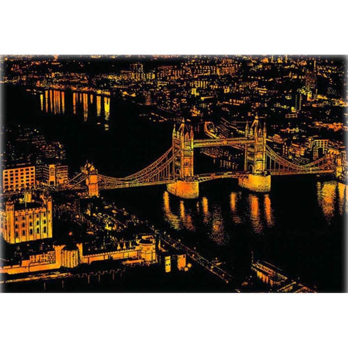Scratch_Painting_Tower_Bridge_bei_Nacht