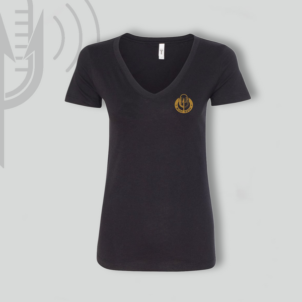 Mike Drop Black Women's V-Neck - Black