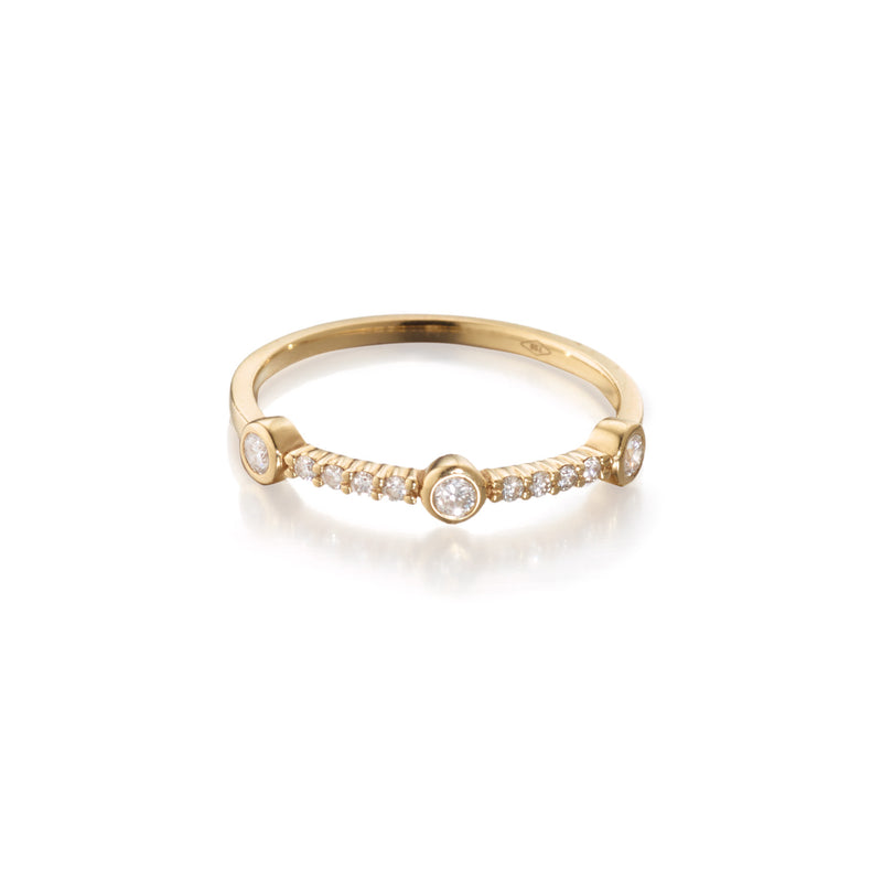 Diamond Orbital Stackable Ring