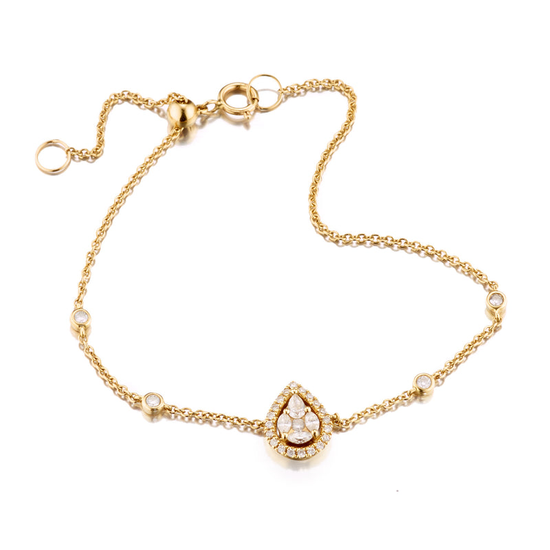Diamond Marquis Pear Shaped Bracelet