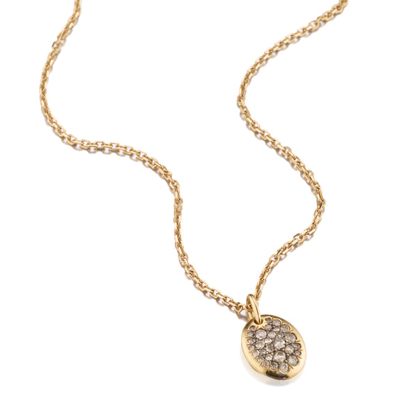 Champagne Diamond Oval Necklace